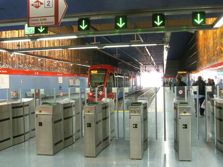Tme bahnreisen spanien 2007 schienenverkehrsfreunde for Metro ligero colonia jardin